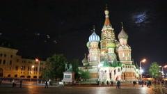 St. Basil Church (Vasiliy Blazhenniy) in Moscow Russia Stock Footage