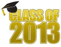 Stock Illustration of graduation 2013