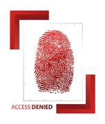 Illustration of access denied sign with thumb on isolated background Stock Illustration