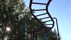 Playground strength, jungle gym Stock Footage