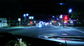 4K Intersection Traffic Timelapse 20 Loop Drivers View Hollywood Night Footage