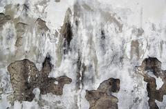 old cracked stucco - stock photo