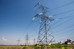 Stock Photo of electrical powerlines