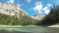 Green Lake in Styria, Austria Stock Footage