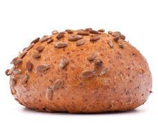 Hamburger bun or roll with sesame seeds  cutout Stock Photos