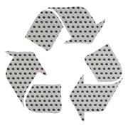 recycle sign made with gray metal - stock illustration