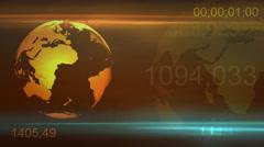 Yellow Globe rotation background Stock Footage