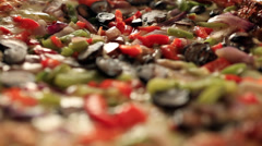 Pizza close up rotating center Stock Footage