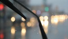 Rainy headlights. - stock footage