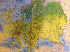 European History and Geography - stock photo