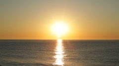 Sunrise over sea Stock Footage