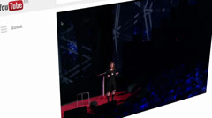 Sharing Ted talk on Youtube Stock Footage