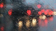 Rainy redlight. Stock Footage