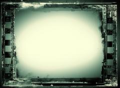 grunge film frame - stock illustration