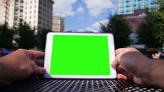 Green Screen Tablet PC 3620 Stock Footage