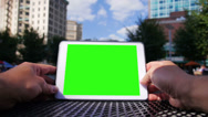 Stock Video Footage of Green Screen Tablet PC 3620