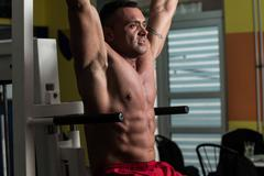 gym workout for abs - stock photo