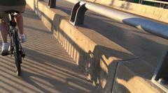 Extreme Slow Motion Bike Rider 3625 - stock footage