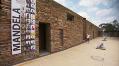 Entrance to The Apartheid Museum Stock Footage