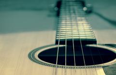 Stock Photo of an acoustic guitar