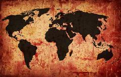 Grunge maailmankartalla Piirros