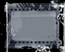 grunge film frame - stock illustration