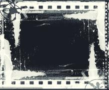 grunge film frame with space for text or image - stock illustration