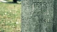 Stock Video Footage of old tomb stone