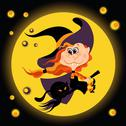 Stock Illustration of Witch halloween girl and black cat
