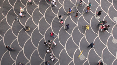 Shopping street, pattern, overhead view, abstract, Baku, Azerbaijan Stock Footage