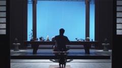 Meditating man Stock Footage