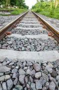 Railway tracks in bangkok, the capital of thailand Stock Photos