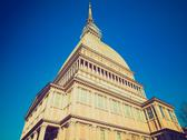 Stock Photo of retro look mole antonelliana, turin