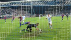 Goalkeeper's saving Stock Footage