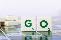 Stock Photo of go letters
