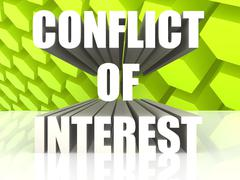 Conflict of Interest - stock illustration