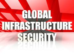 Global Infrastructure Security - stock illustration