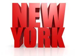 New York word Stock Illustration