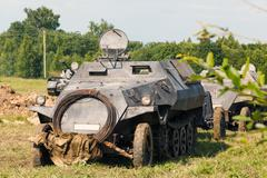 german half-track armored personnel sdkfz 250 - stock photo