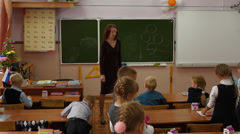 lesson at school - stock footage
