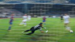 Miss the goal Stock Footage