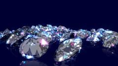 Falling, bouncing diamonds. Stock Footage