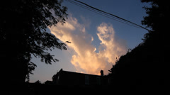 Suburban Sunset clouds. Mellow timelapse. Stock Footage