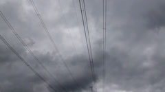 Electric wires and poles Stock Footage