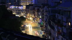 Busy street with fading light timelapse Stock Footage