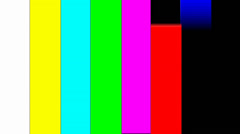 Color Bars Transition SMPTE  - alpha channel - 1080p - stock footage