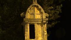 Big Tomb  at night tilt - stock footage