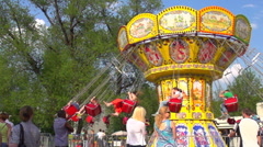 Merry-go-round slow motion Stock Footage