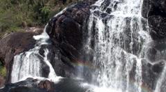 Powerful Baker's Falls. Horton Plains NP, Sri Lanka. Stock Footage