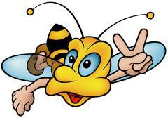 Flying Wasp Stock Illustration